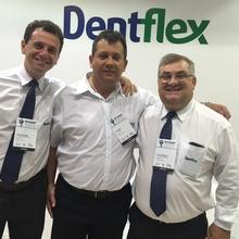 Da esquerda para a direita esta o Diretor Tiago Seixas, o Representante Ageu de MG e o Diretor Paulo H. Bis.